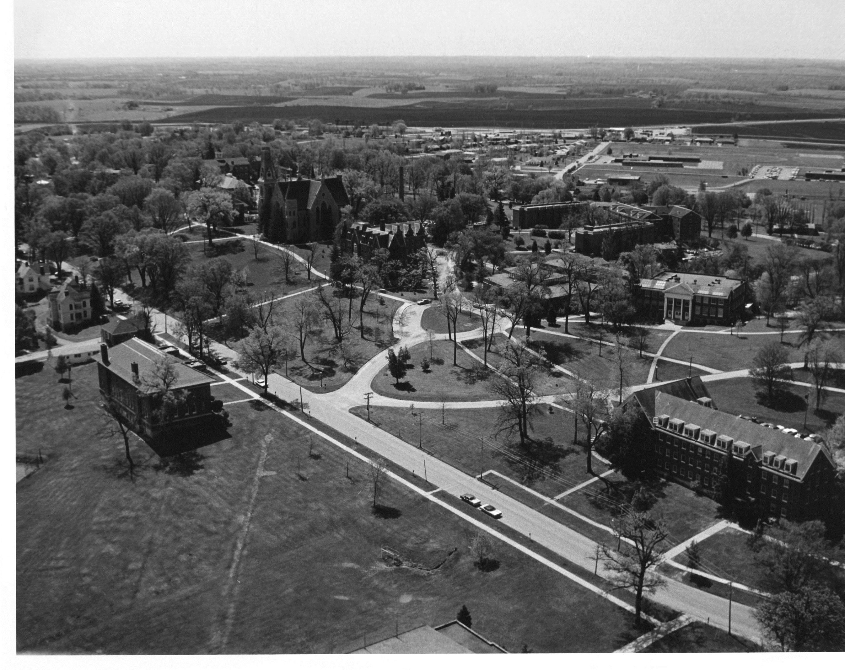 Aerial Photograph of Cornell College-1975