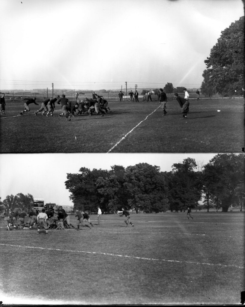 Football Team in Action