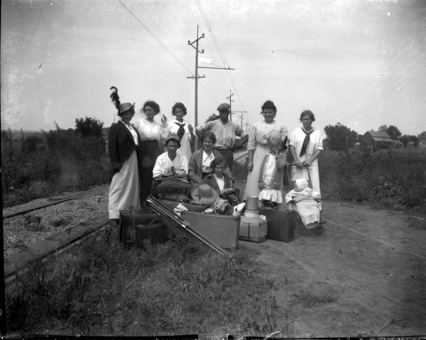photo of Women Waiting for Interurban Station