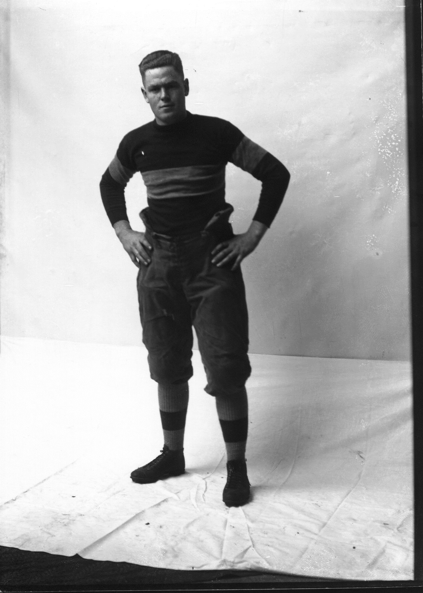 Cornell College Student in Football Uniform