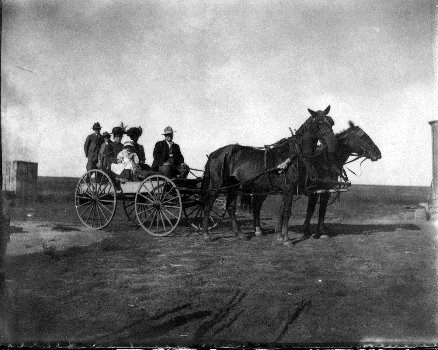 photo of Family in Wagon