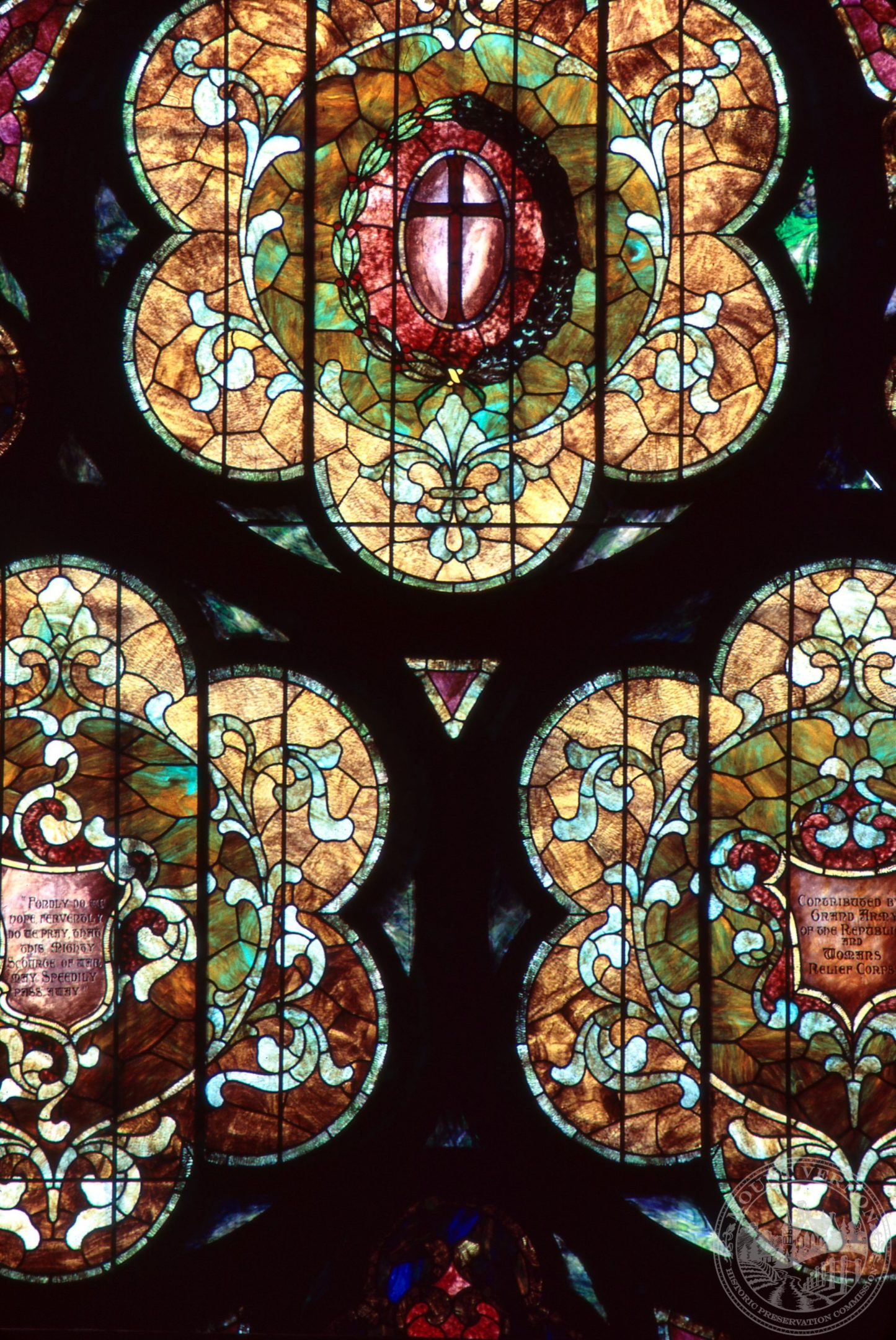 Photo of Methodist Stained Glass Window, 1980