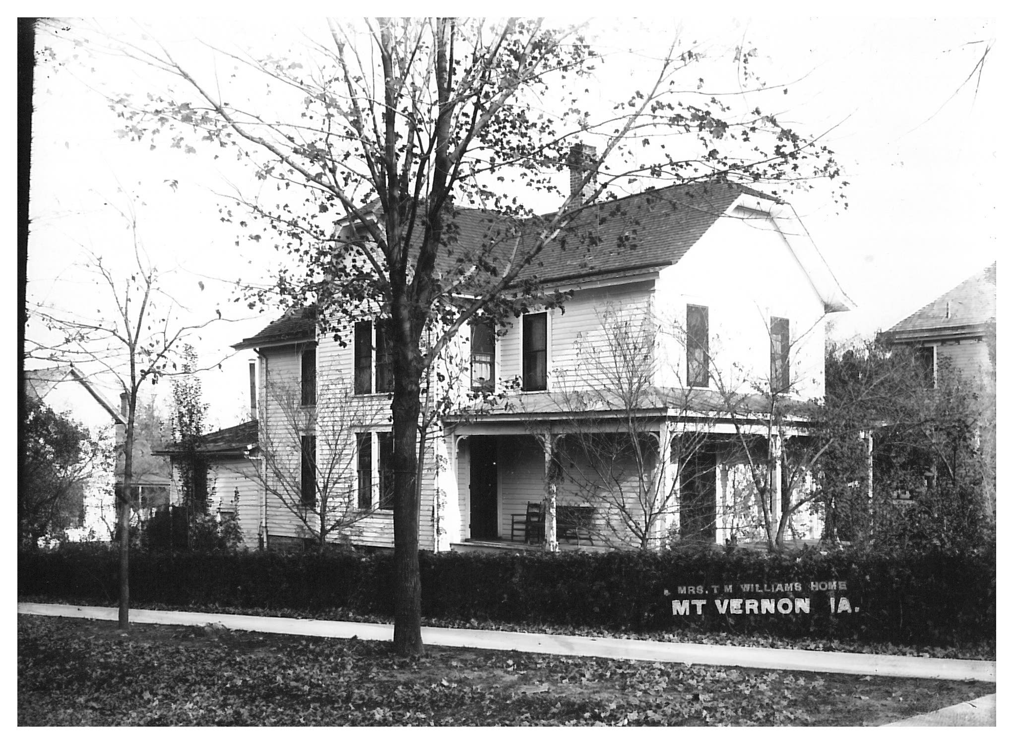 photo of Mrs. T. M. Williams Home