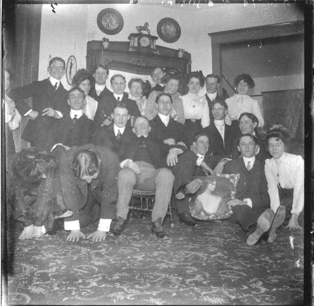 photo of Party of Unidentified Cornell Students