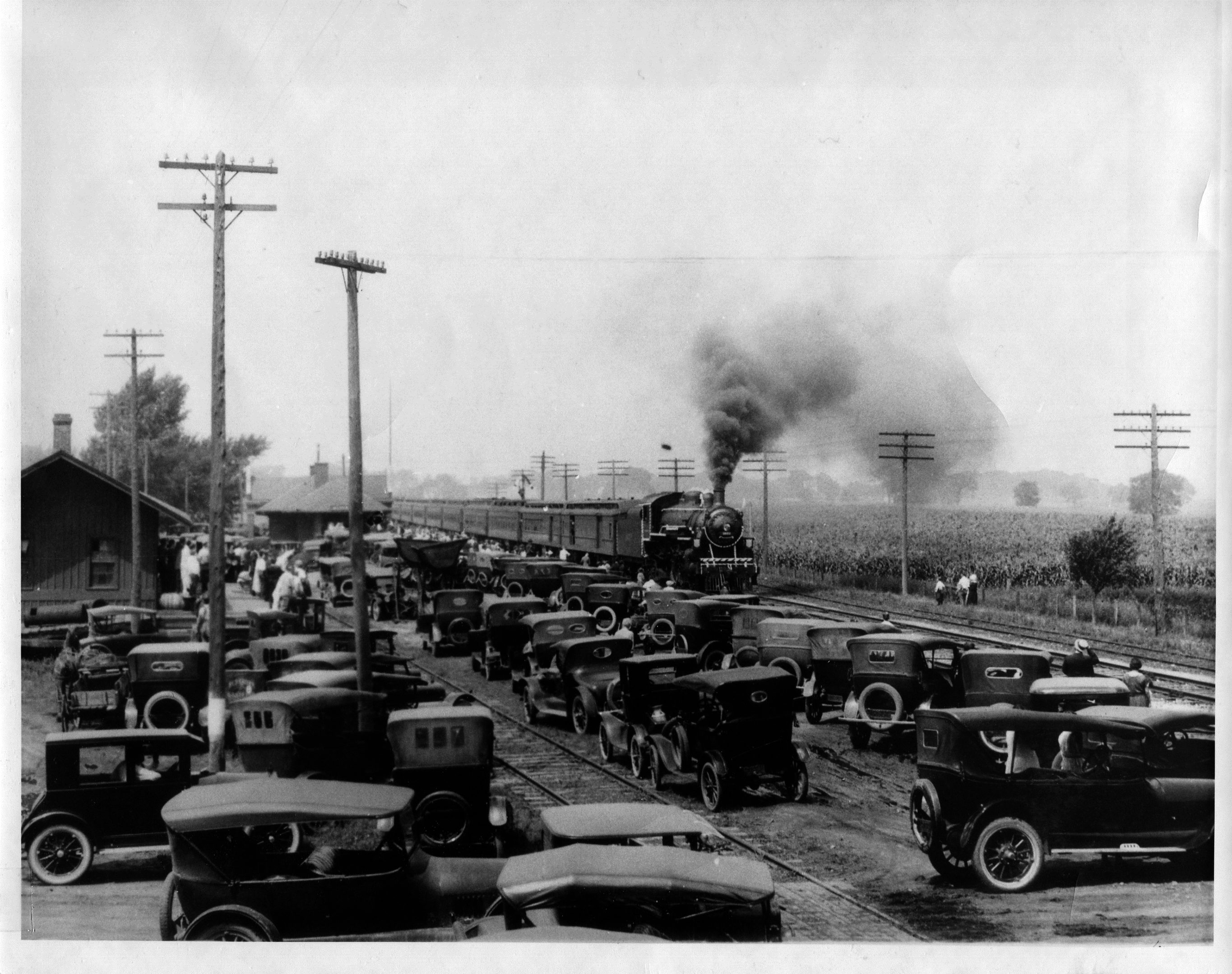 photo of President Harding Funeral Train