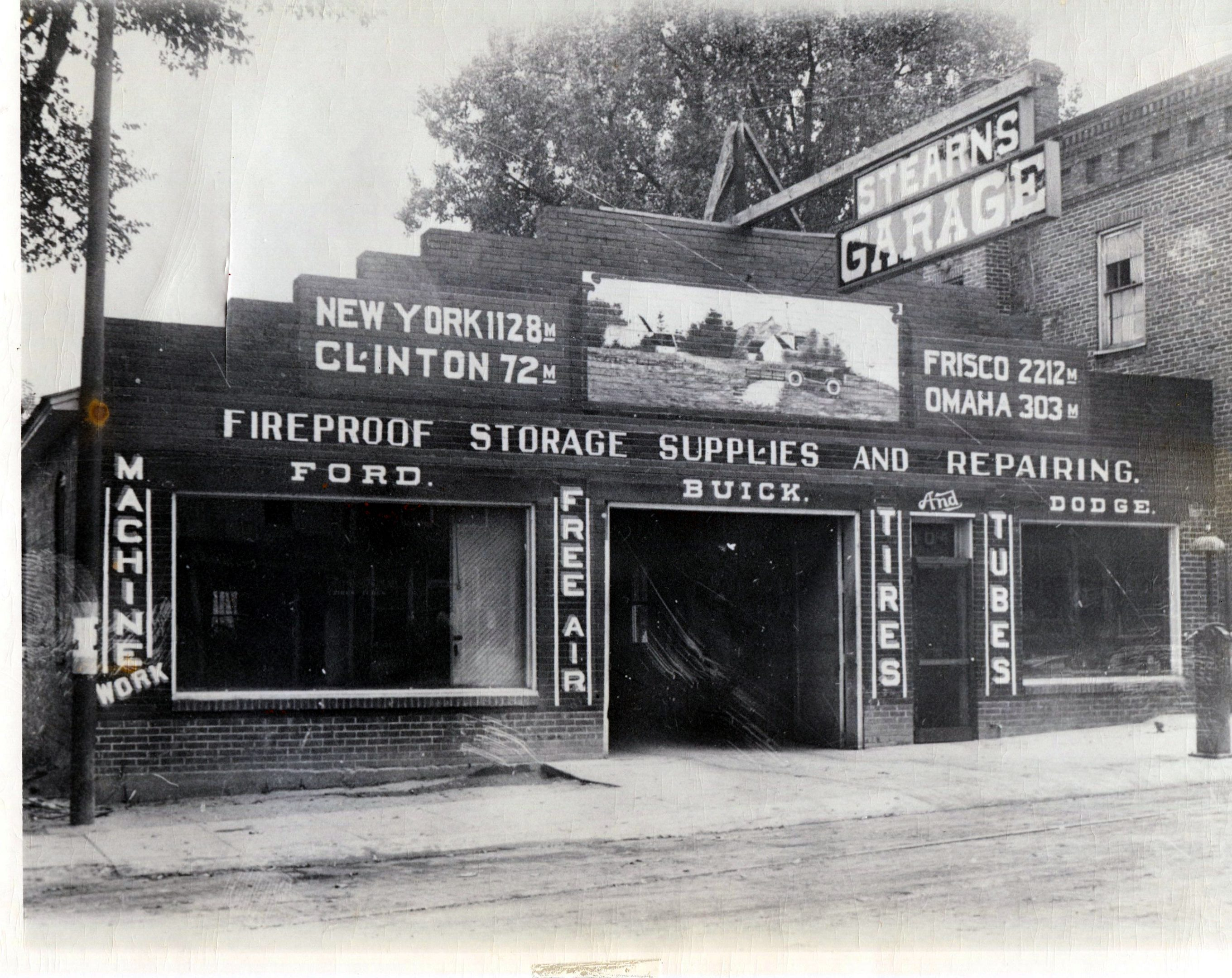 photo of Stearn's Garage-1929
