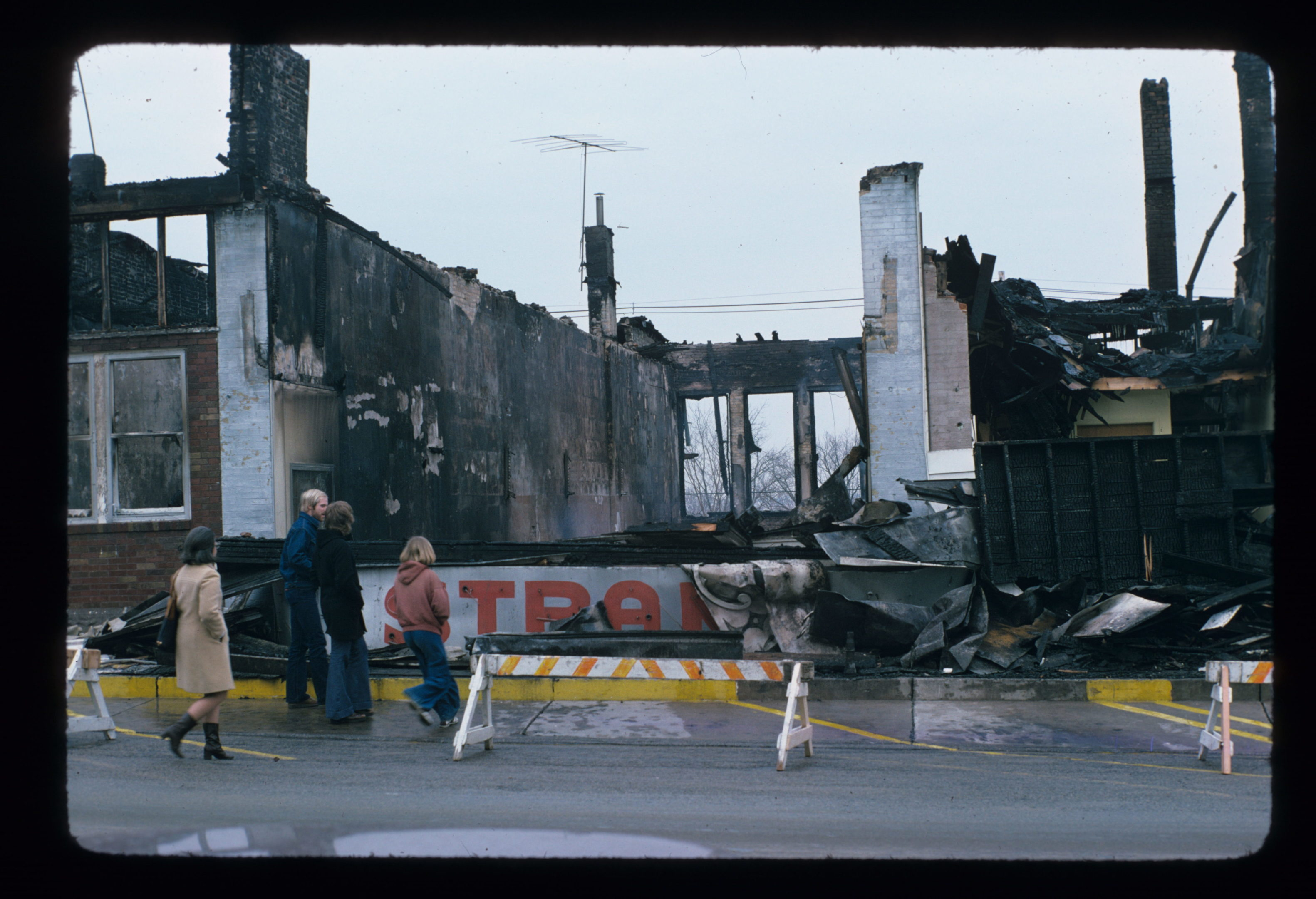 photo of Theater After Being Burned Down