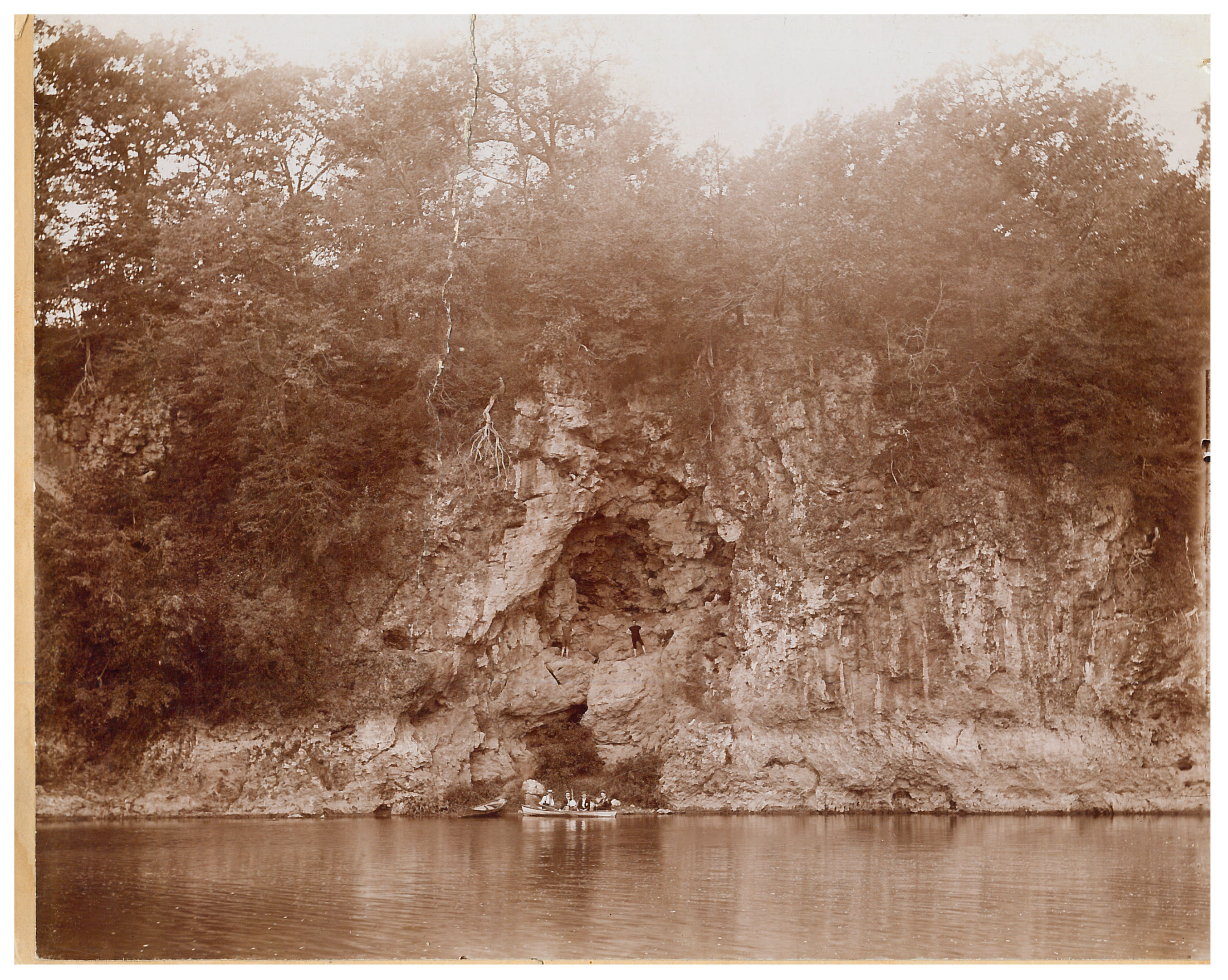 photo of Unidentified People by the Cedar River