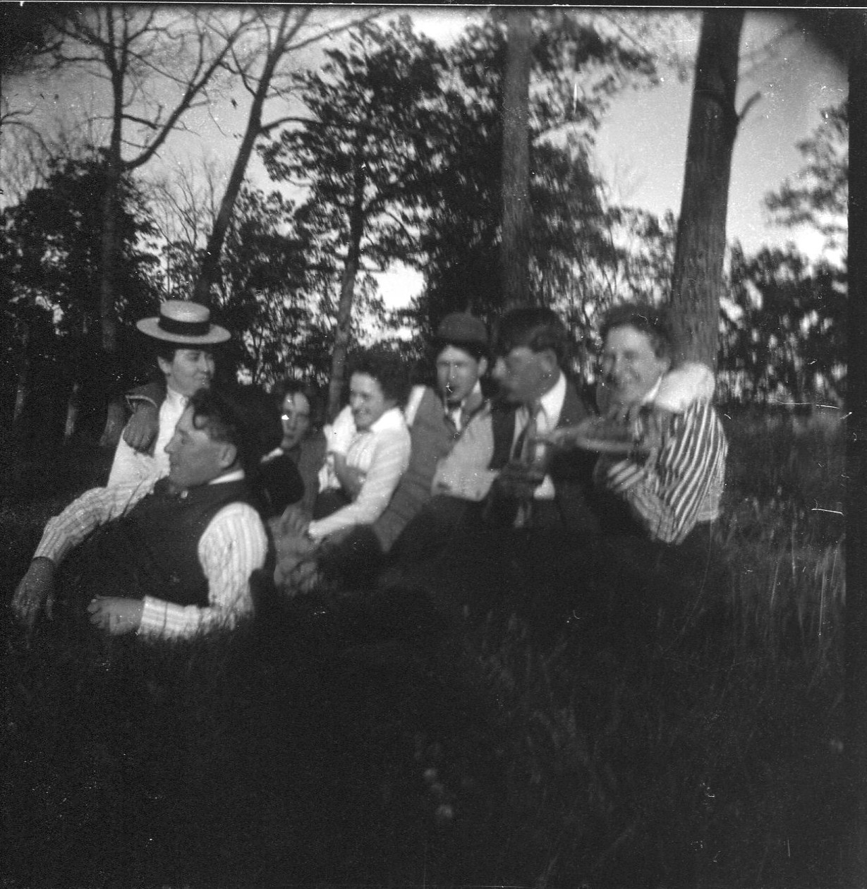 photo of Unidentified Students at a Picnic