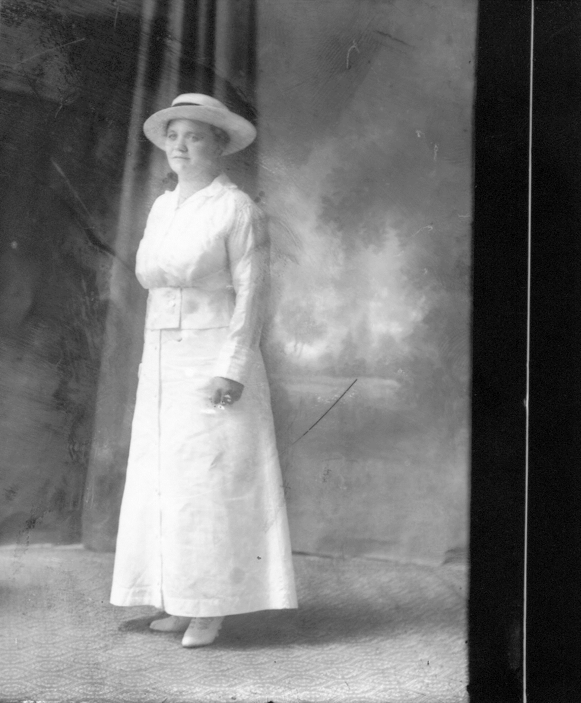 photo of Unidentified Woman in a White Dress