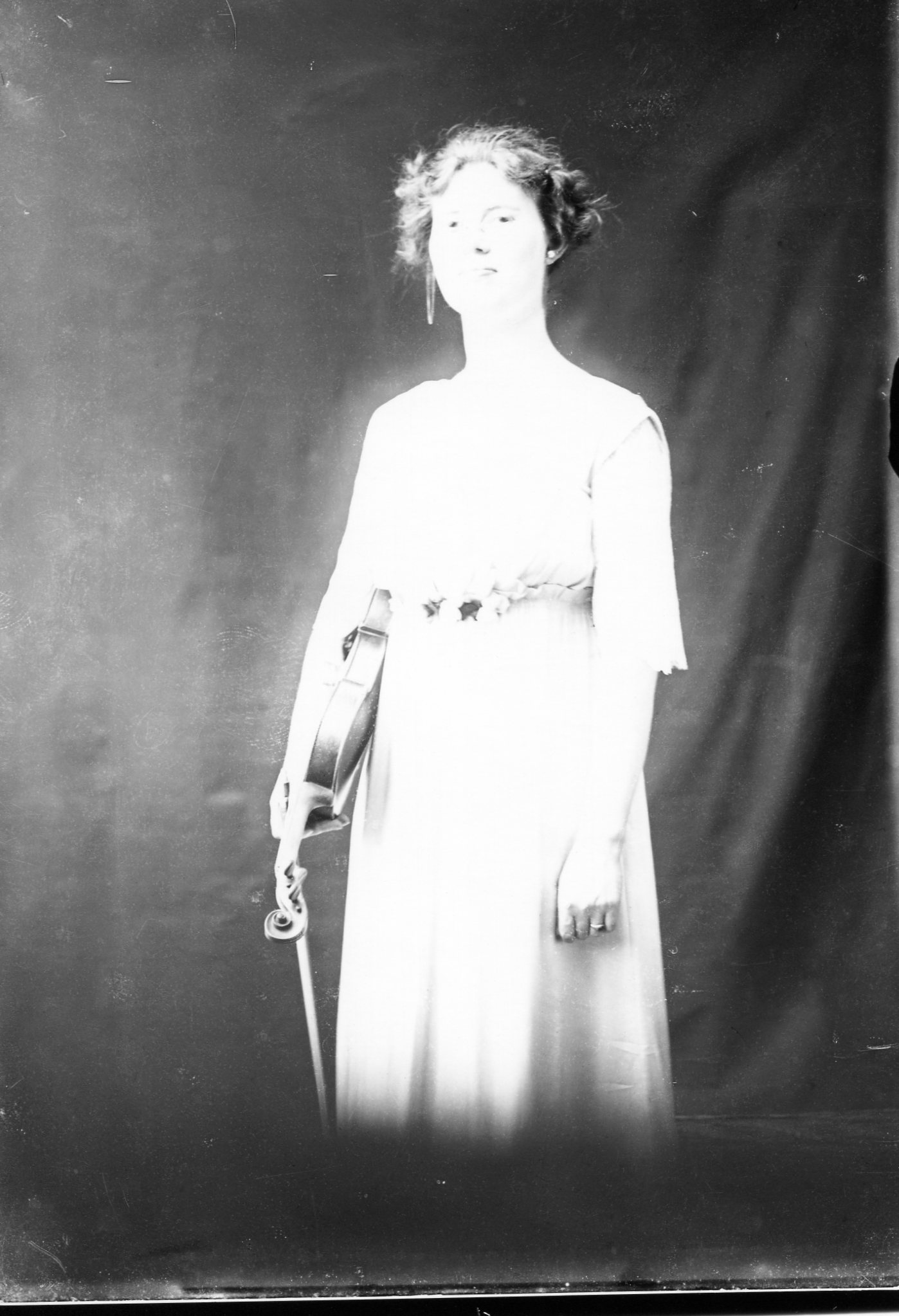 photo of Unidentified Woman with a Violin