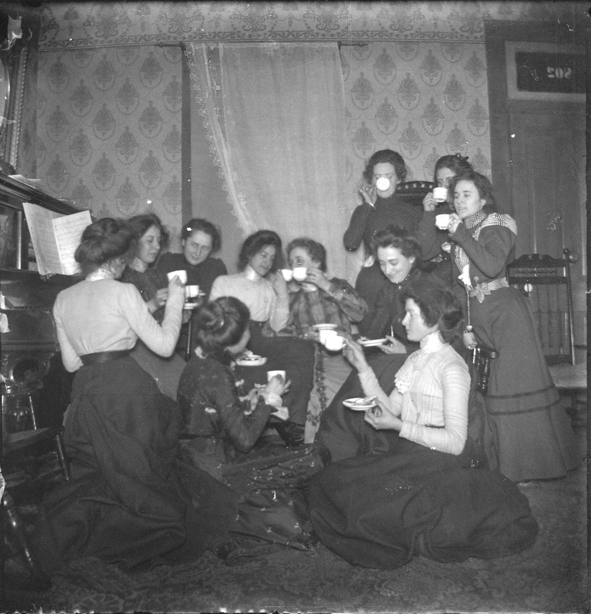 photo of Unidentified Women Drinking Tea
