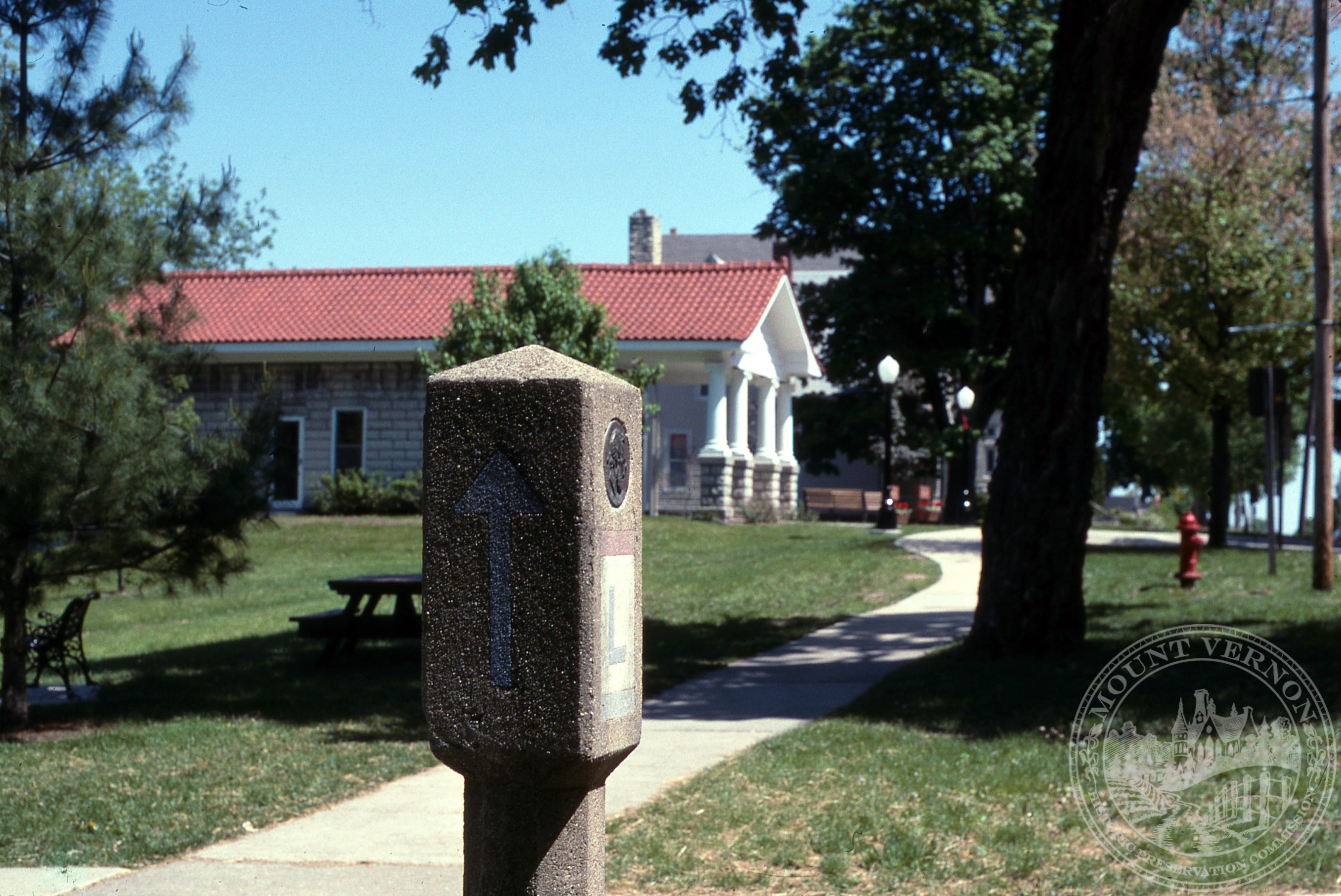 Photo of Visitor Center with Lincoln Highway Marker