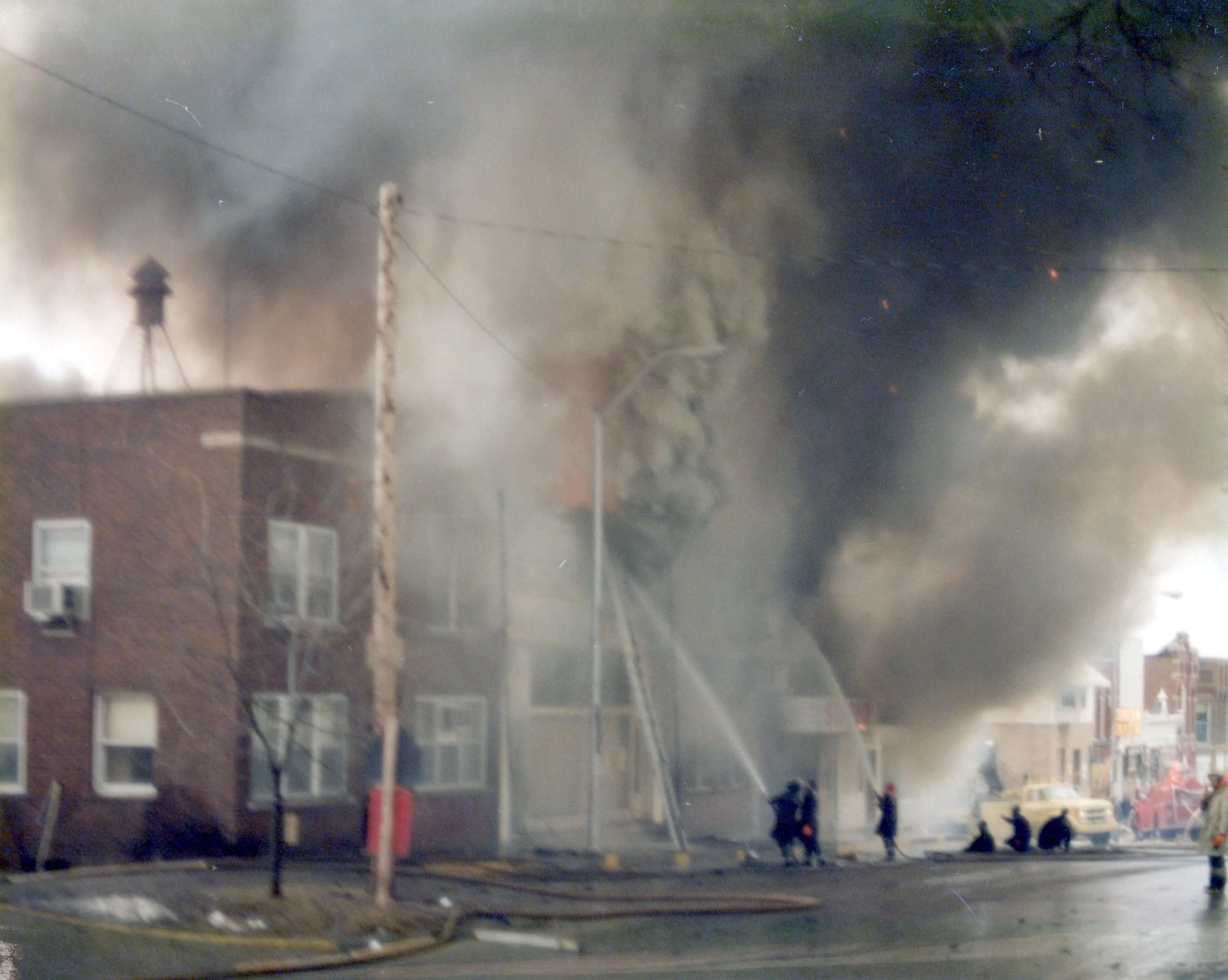 photo of Wolfe Block Fire-1975