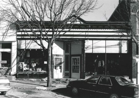 Photo of building at 117 First Street W. Photographed 1990 by Barbara Beving Long.