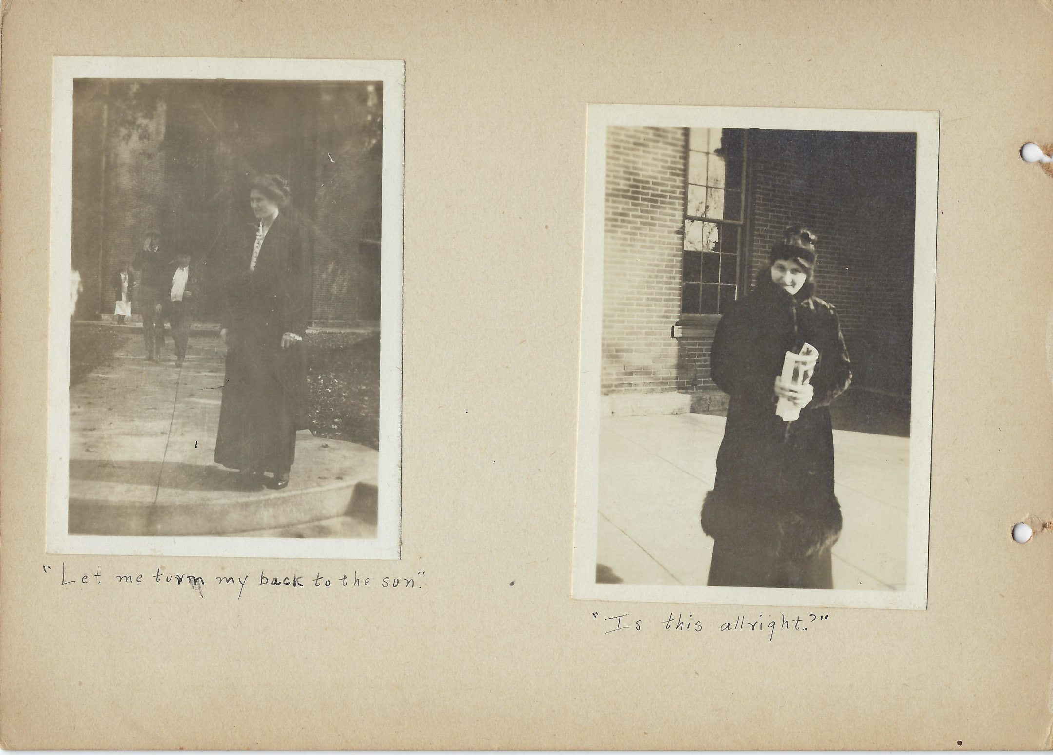 Two photos of Mount Vernon High School teacher Ethel MacKenzie