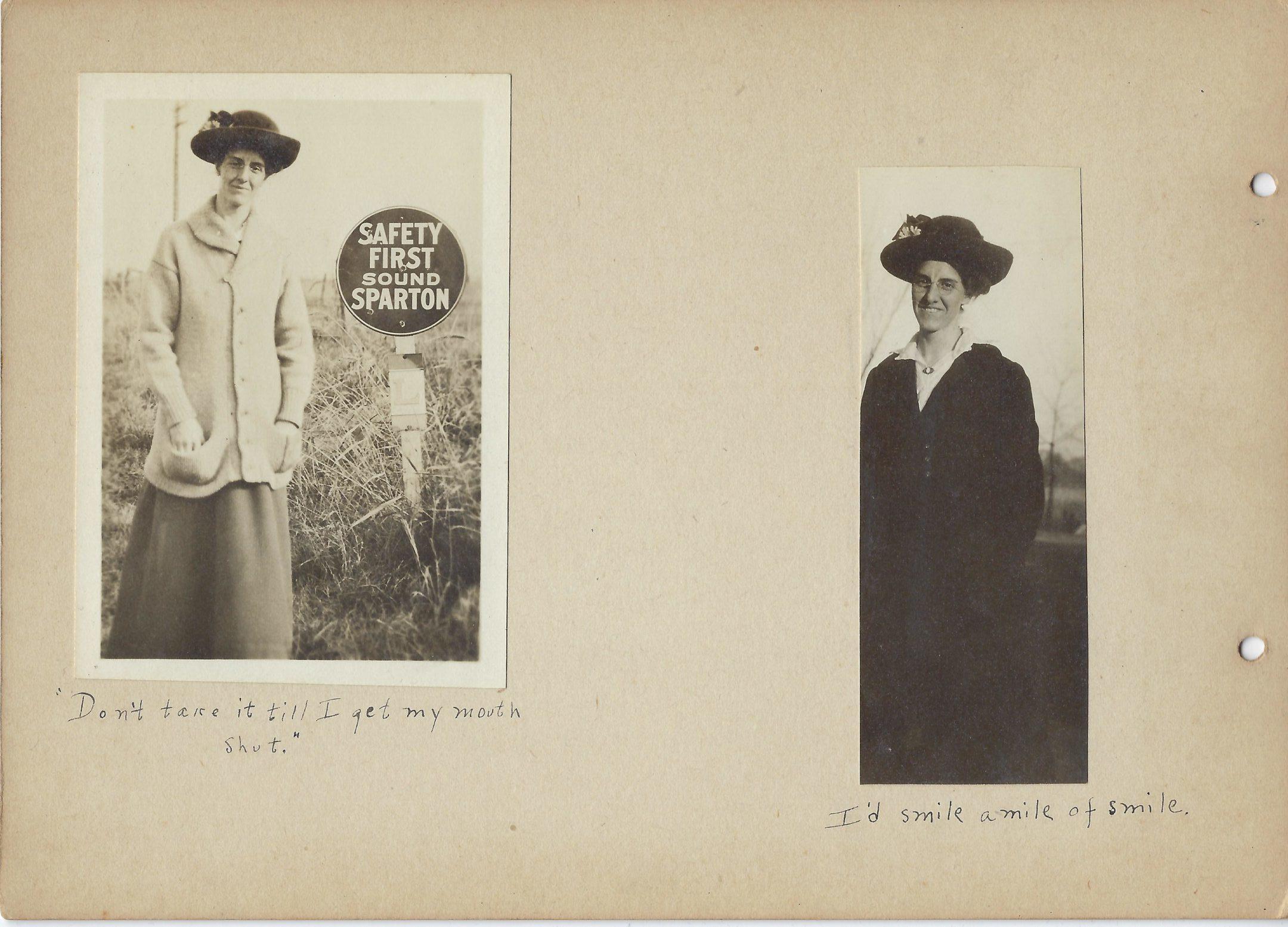 Two photos of Mount Vernon High School teacher Gilmer