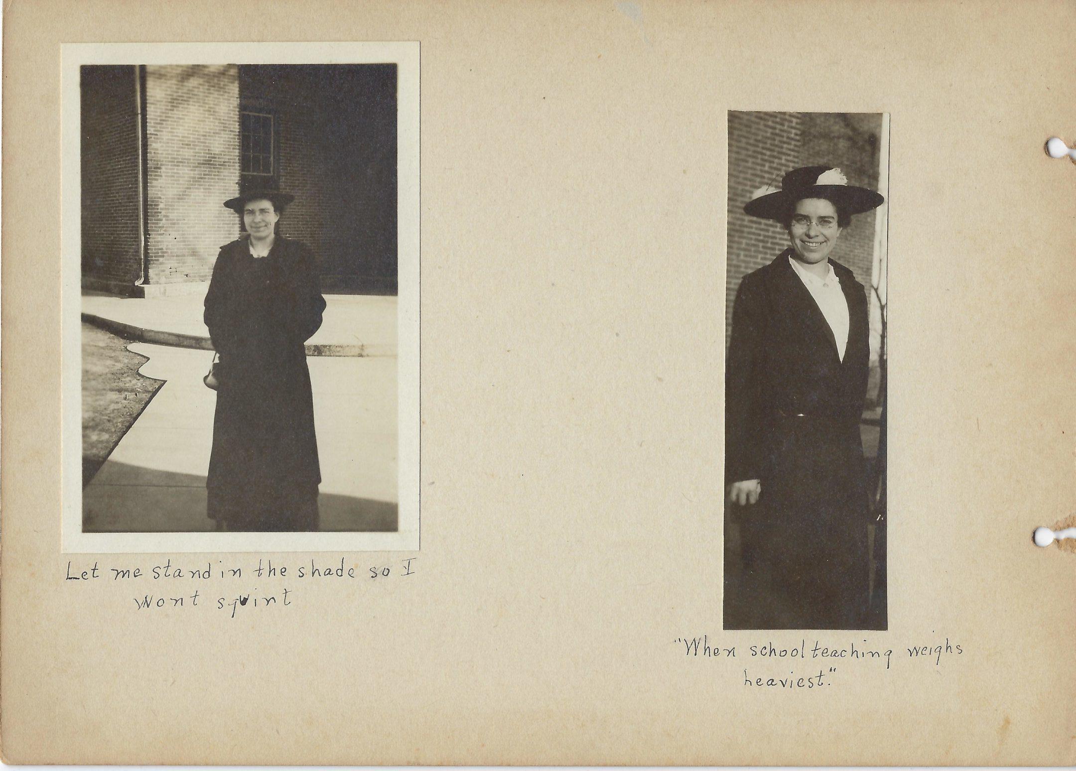 Two photos of Eleanor Pearson of Mount Vernon High School