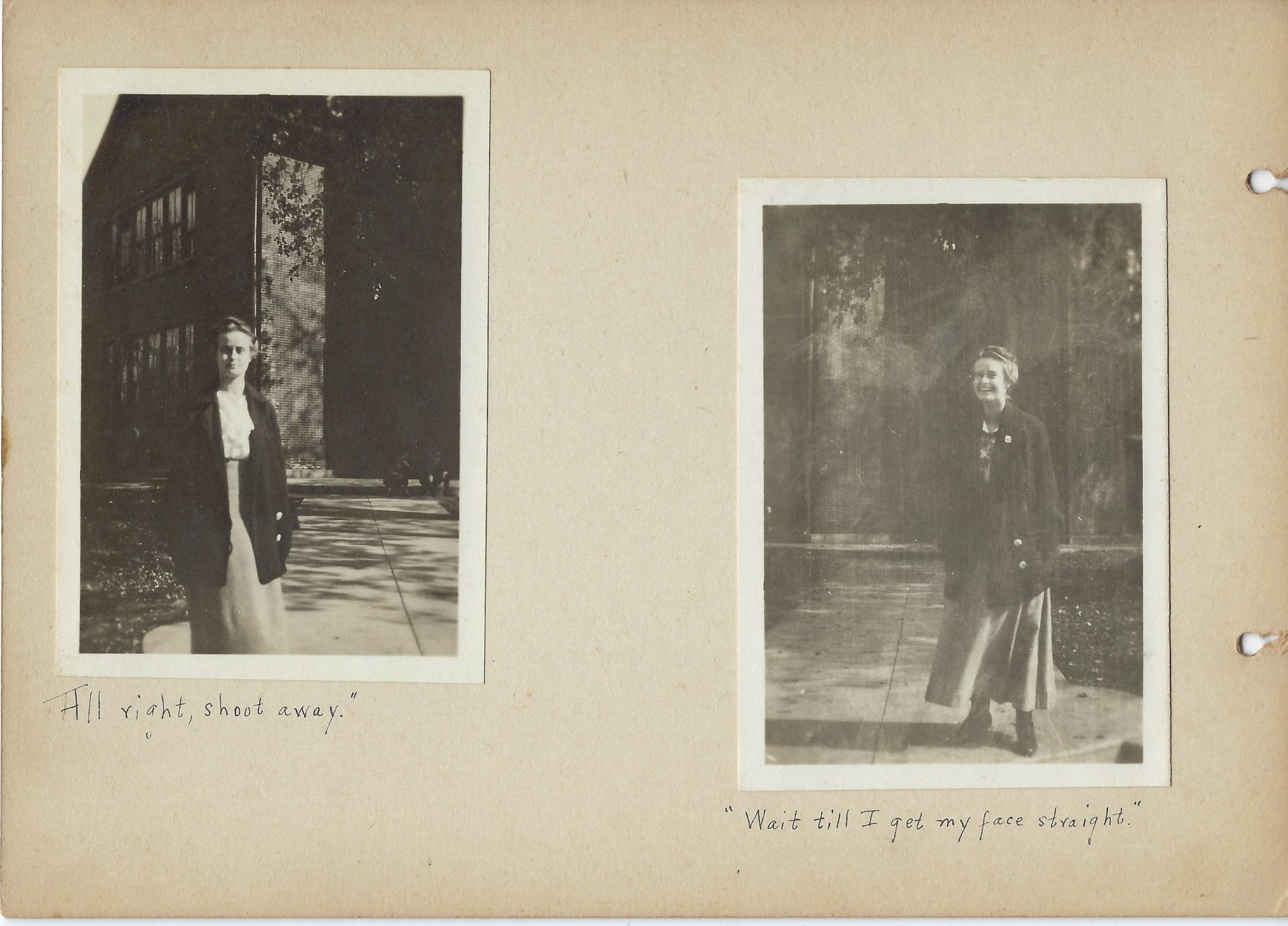 Two photos of Lucile Quist, Mount Vernon High School