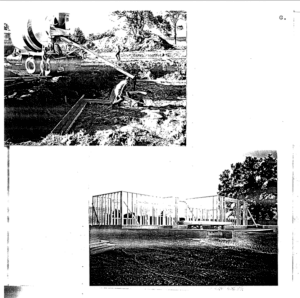 Photos of construction of the covington house