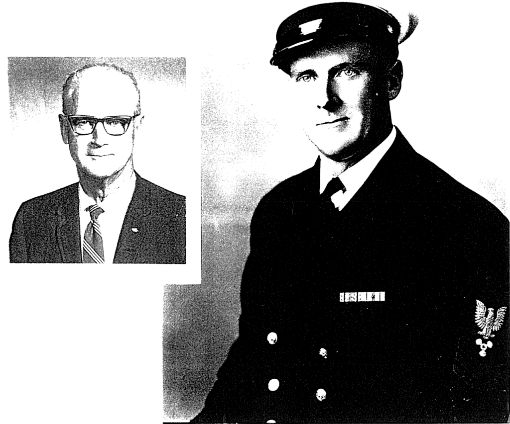 Photos of two brother, one in his sixties, the other in his naval uniform.