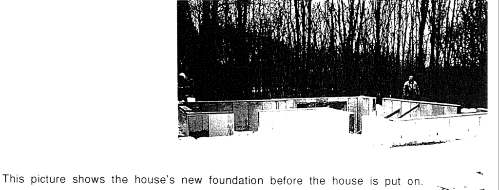 Picture of a new concrete foundation.