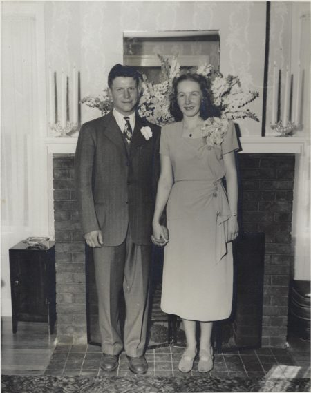 Wedding photo of Donald and Joan Siggins