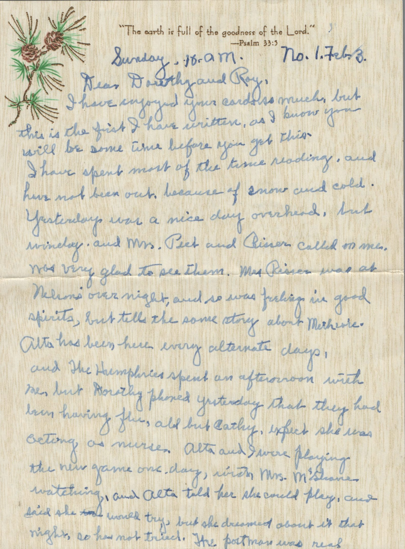 Photo of 1950s Letter from Nellie Neff to Dorothy and Roy Johnson