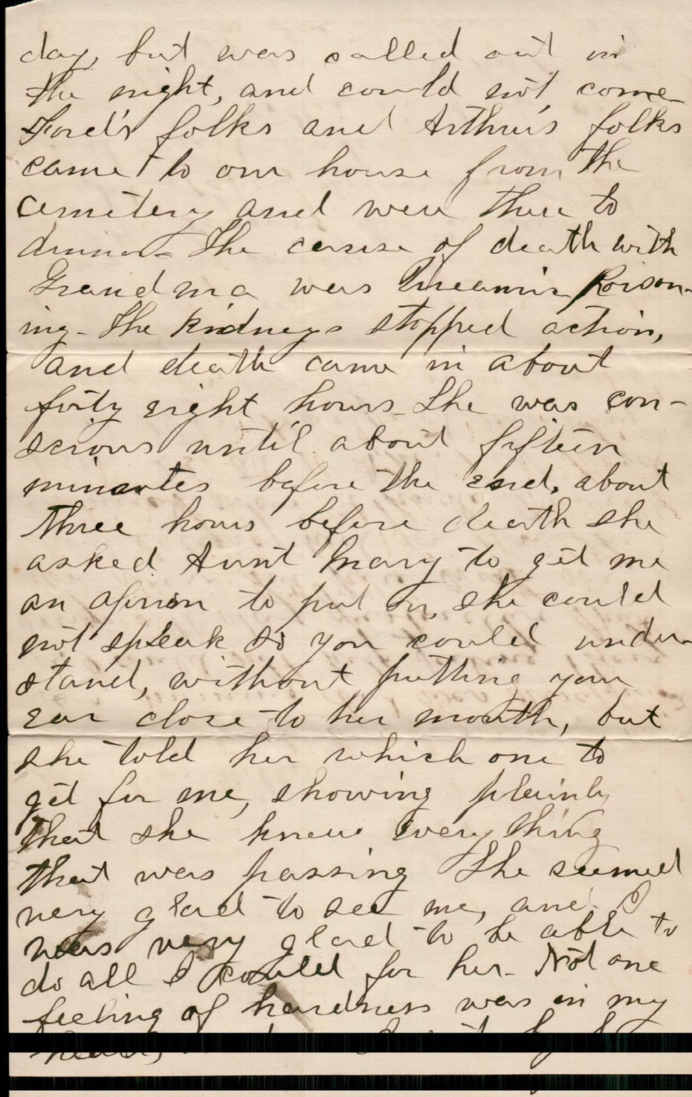 Photo of Letter from Anna Neff to C.W. Neff