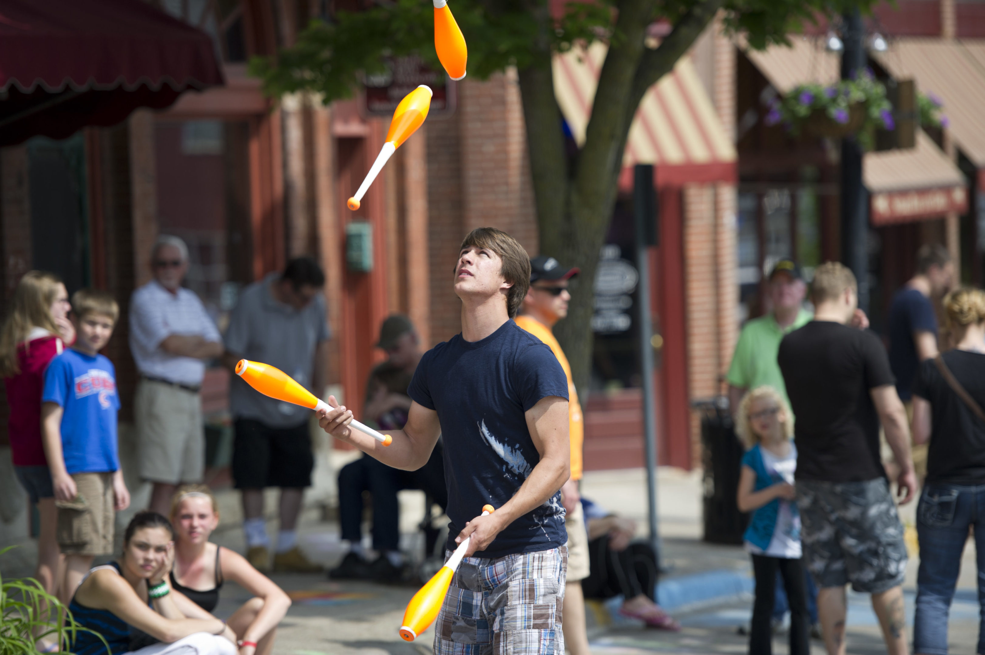 Photo of Chalk the Walk-2013 Juggler performs