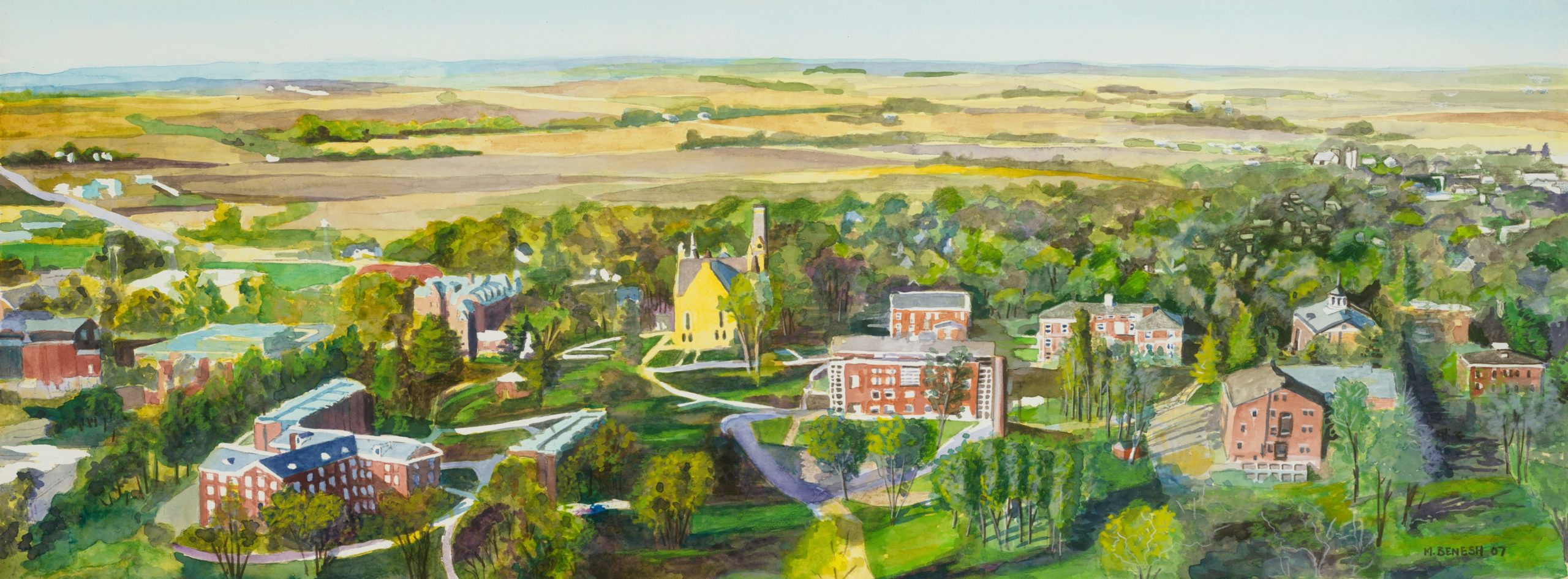Photo of Cornell Painting by Mark Benesh