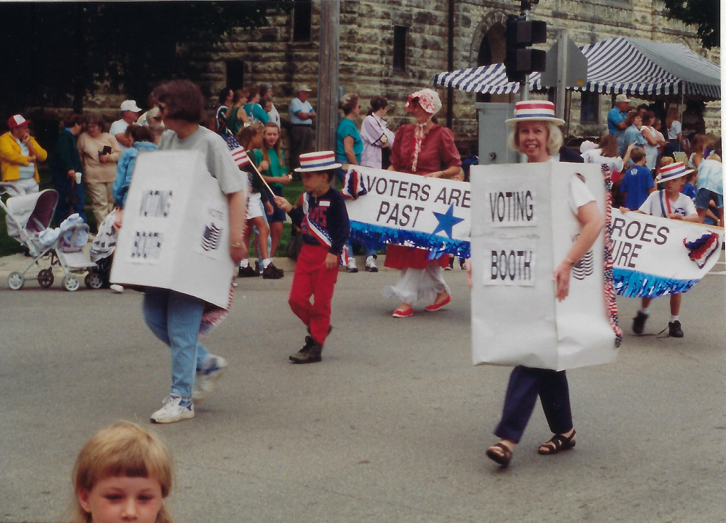 Photo of Heritage Day Parade, Jane Carlson & Sharon Hill-1994