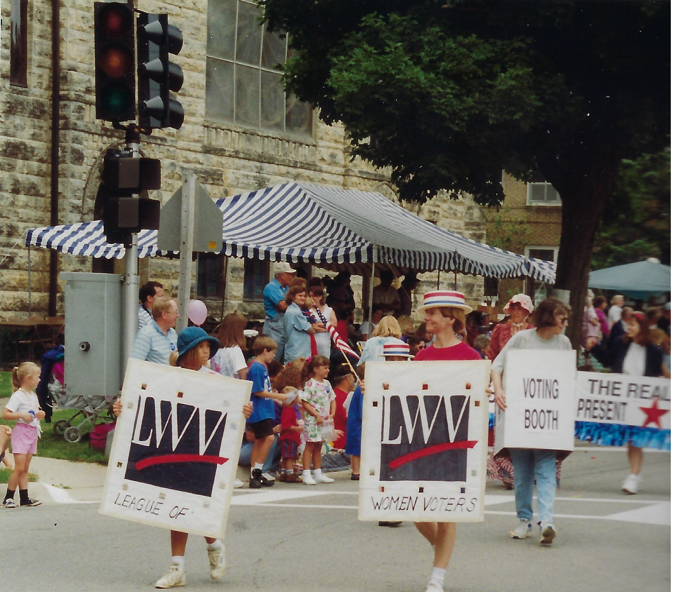 Photo of Heritage Day Parade, League of Women Voters-1994