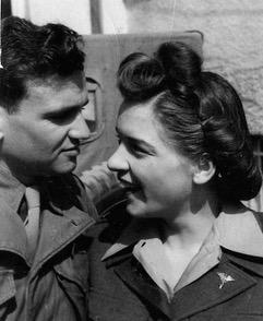 Photo of Dewey Humphries with Dorothy Johnson @ 1945