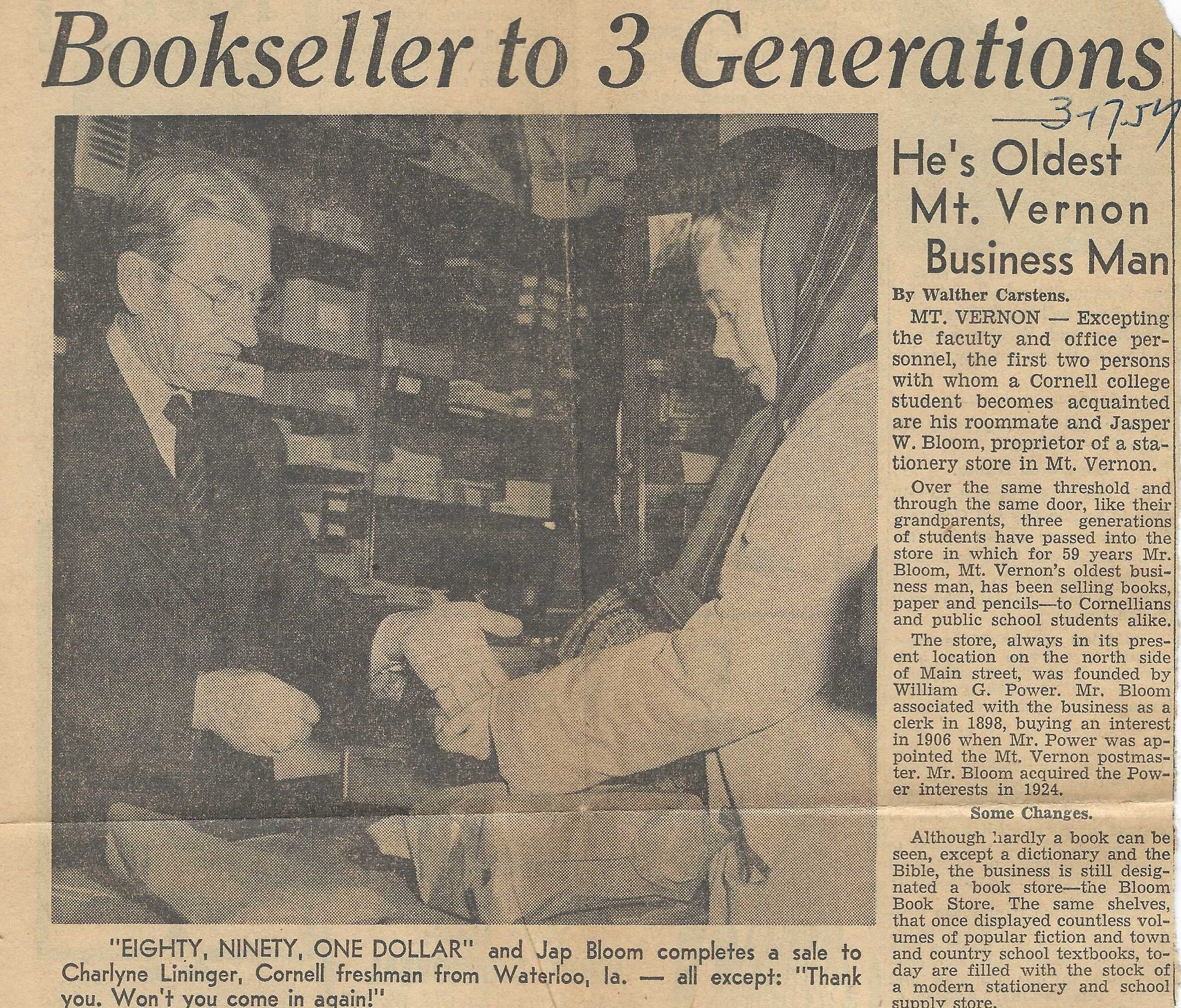 Photo of Bookseller Jasper Bloom