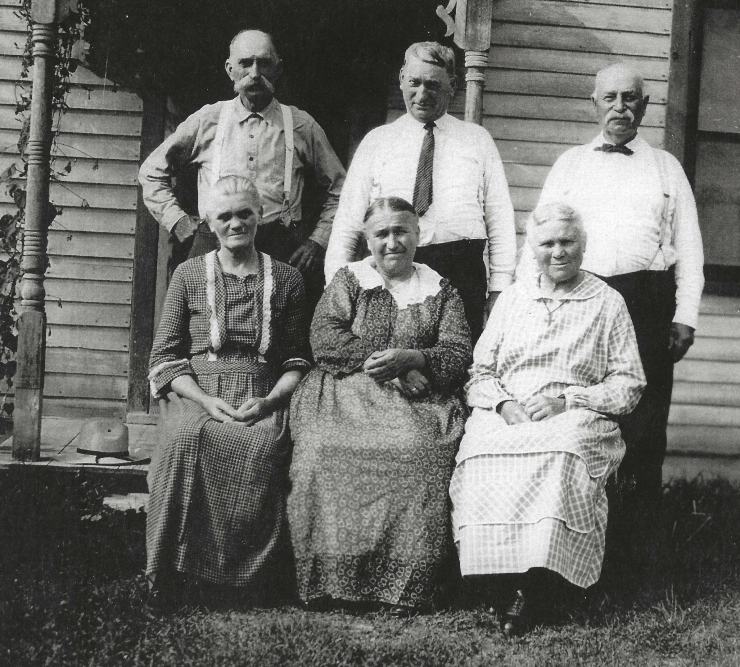 Photo of 3 Crofter brothers with their wives